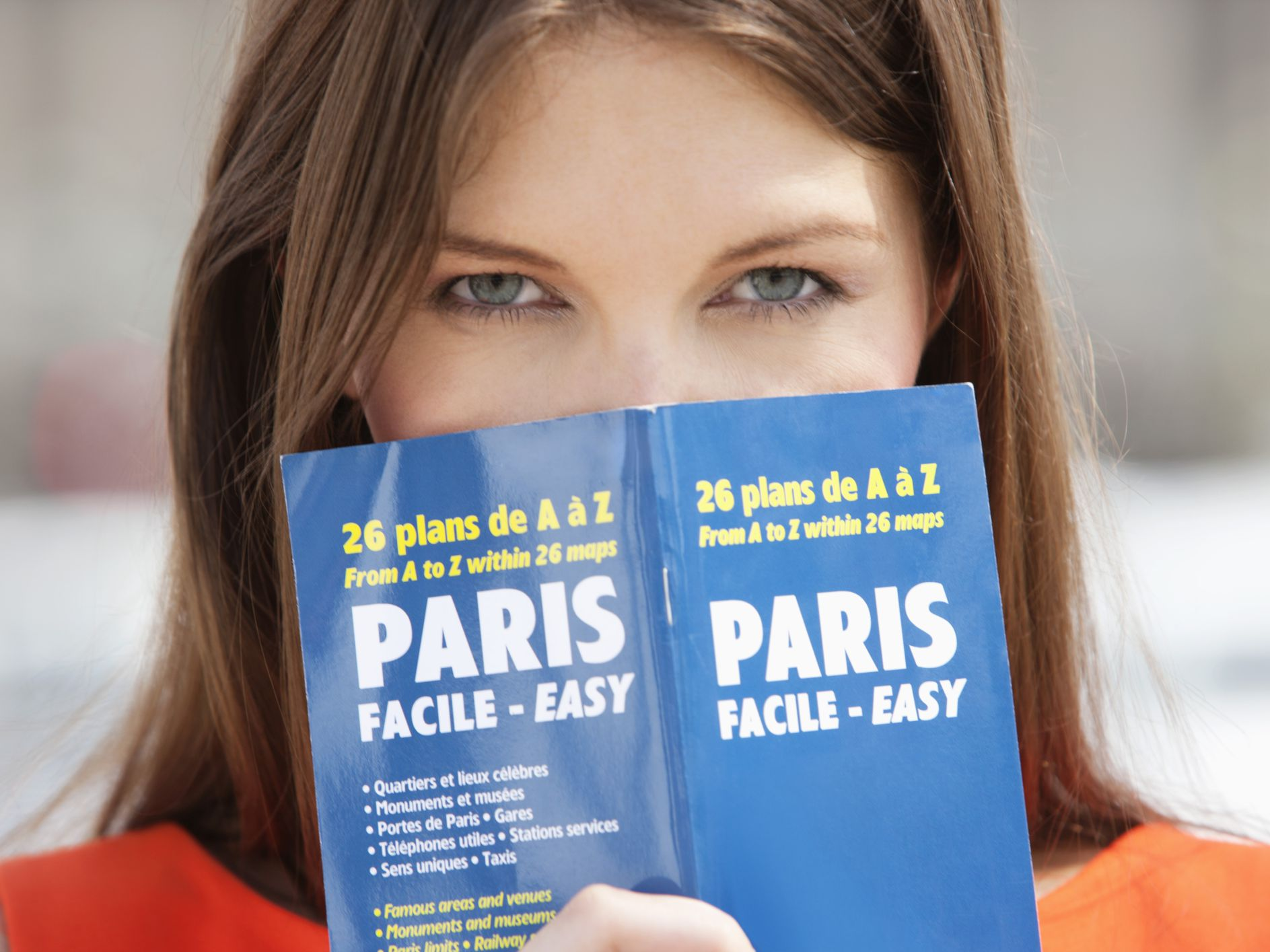 blog banner of woman with french book