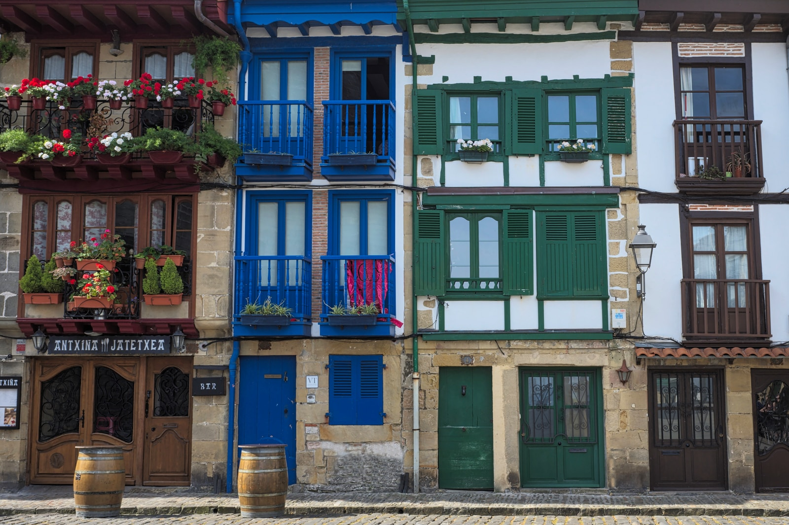 colourful houses in the basque country
