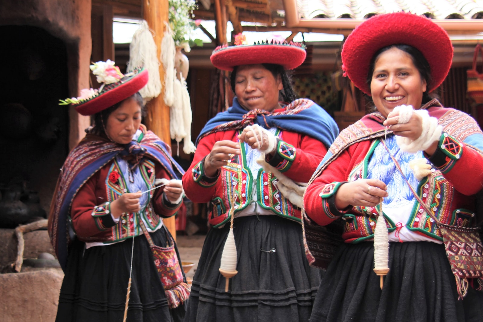 woman in Bolivia in traditional clothing